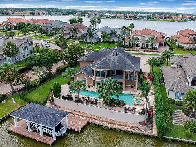 aerial photography for Corpus Christi, TX waterfront property